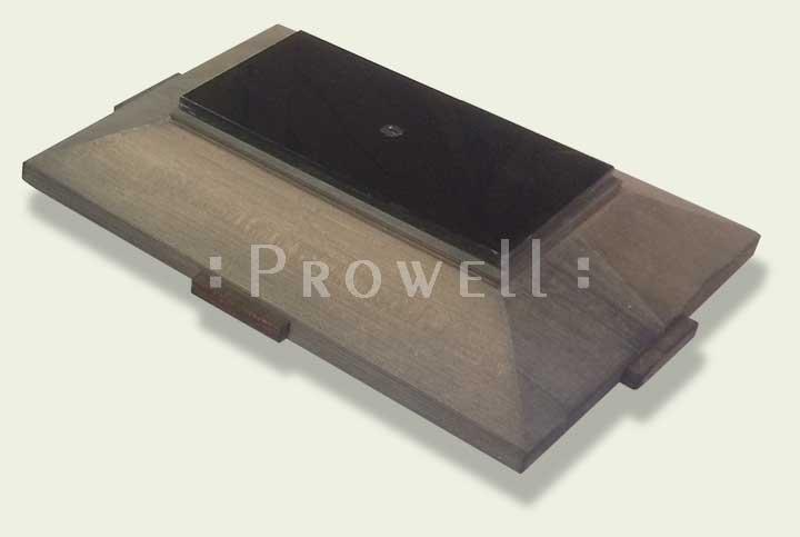 Prowell's Signatore Custom Wood Post Cap weathered