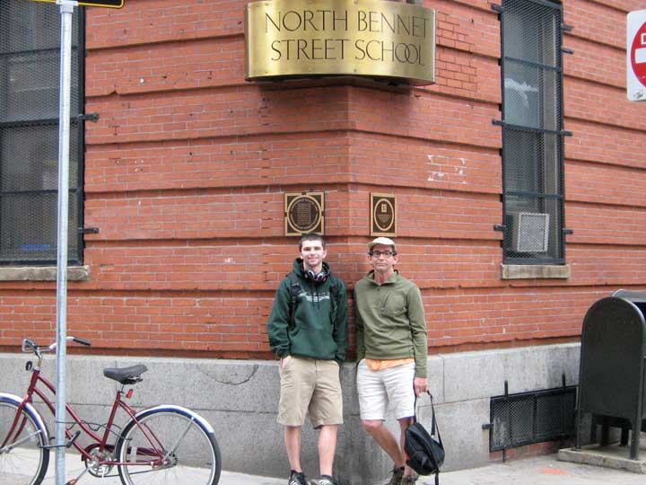2010--Charles visiting Ben at North Bennett St, Boston