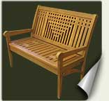 Custom wood garden bench #21 by prowell woodworks