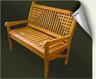 Custom wood garden bench #22 by prowell woodworks