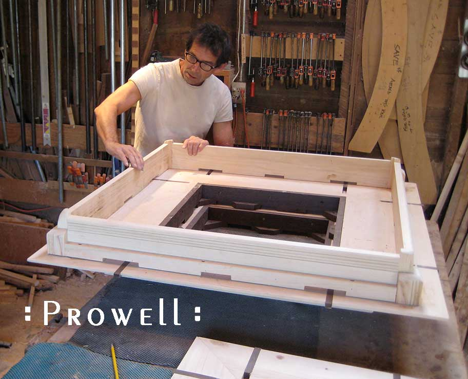 prowell in shop building the custom wood post caps