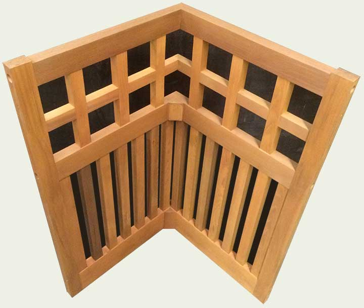wood fence cirners #22b