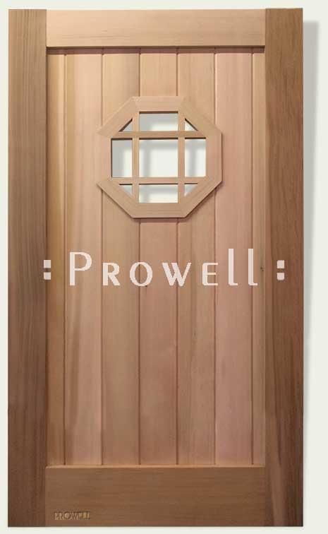 gate with open hexagon speakeasy. prowell