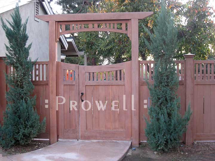 double off-set gates #17-1 on site in Santa Anna, california