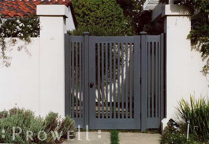 wood double gates