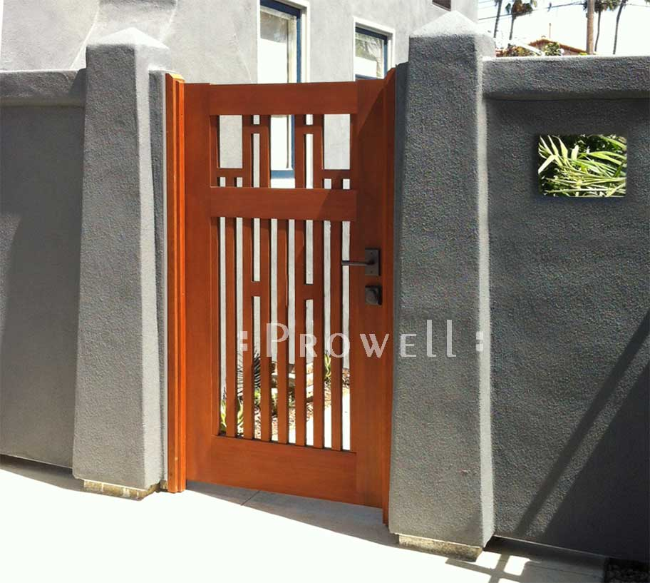 Site photo showing arts and crafts garden gate #38-6 in san diego, california