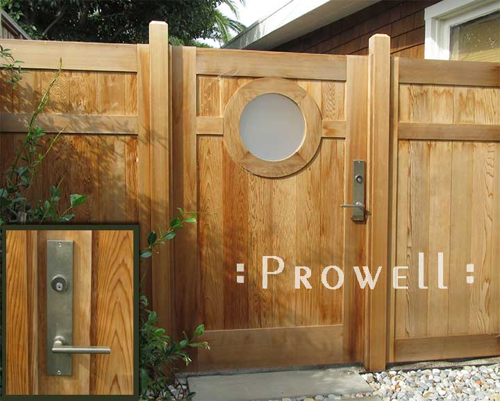 wood gate with speakeasy in Marin County