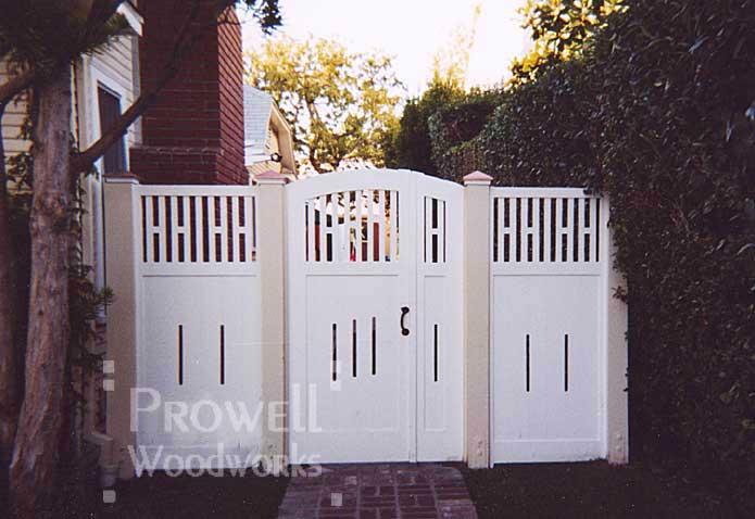 double wood gates in santa monica, california