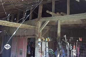 The original barn, still standing