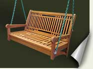 Custom wood porch swing #23 by prowell woodworks