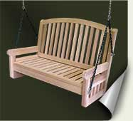 Custom wood porch swing #3 by prowell woodworks