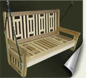 Custom wood porch swing #4 by prowell woodworks