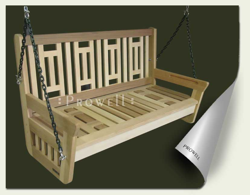 Custom wood porch and garden swing #4 by prowell woodworks