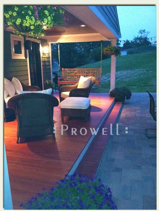 front porch swings in Concinnati, OH by prowell woodworks