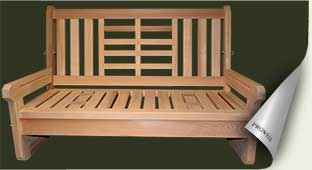 Custom wood porch swing #6 by prowell woodworks