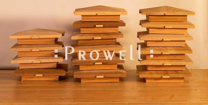 Peaked custom wood post cap style #2a. prowell