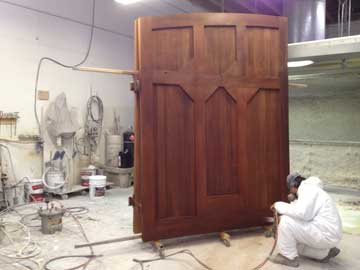 finishing a wood gate with stain