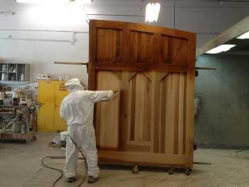 staining a cedar driveway gate