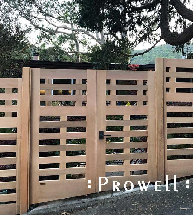 dbl wood gate #114 with Rocky Mountain latch E236.