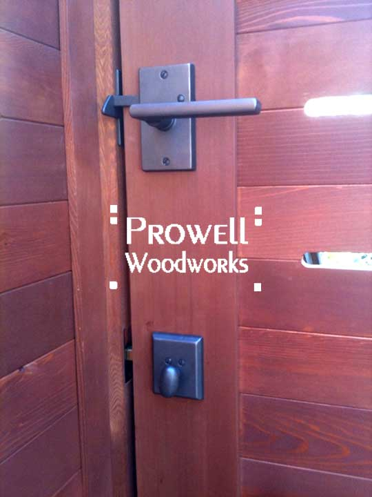 bronze gate latch on Prowell Woodworks wood gate #4