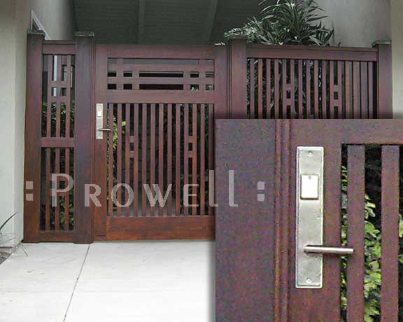 wood gate #67 with RMH bronze latch