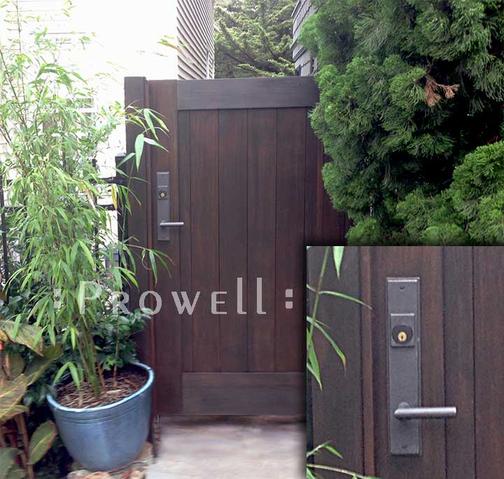 wood gate #72 with bronze RMH gate latch