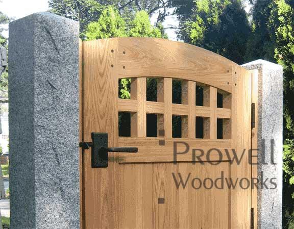 wood Garden Gates with Rocky Mountain Gate Latches E414