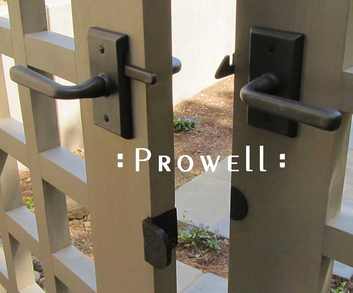 prowell wood gate with RMN bronze latch