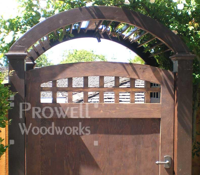 garden gates with bronze gate latches in Contra Costa County california