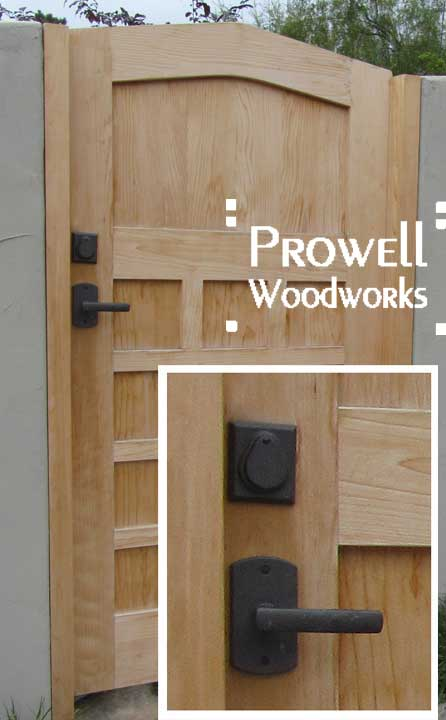 prowell wood gate #110 with RMH bronze dead bolt