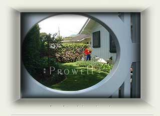wood gate speakeasy portal #2a in Hawaii. Prowell Woodworks
