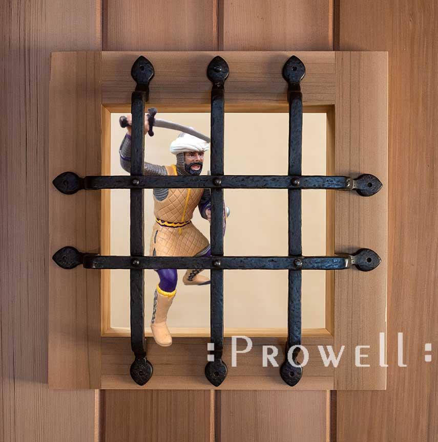 wood gate metal speakeasy portal 4A
