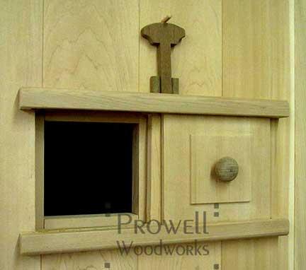 custom wood gates with speakeasy