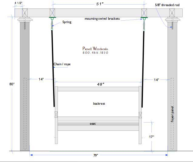 learance specifications for most wood swings. For more specs, see Product Specifications