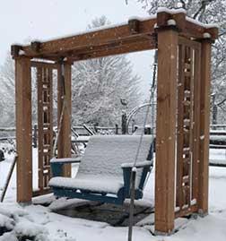 custom wood swing stand arbor.prowell