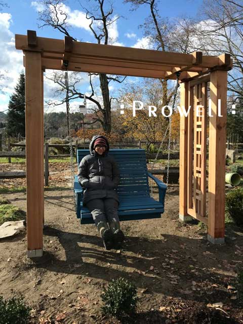 cedar swing stand/arbor in new hampshire. prowell