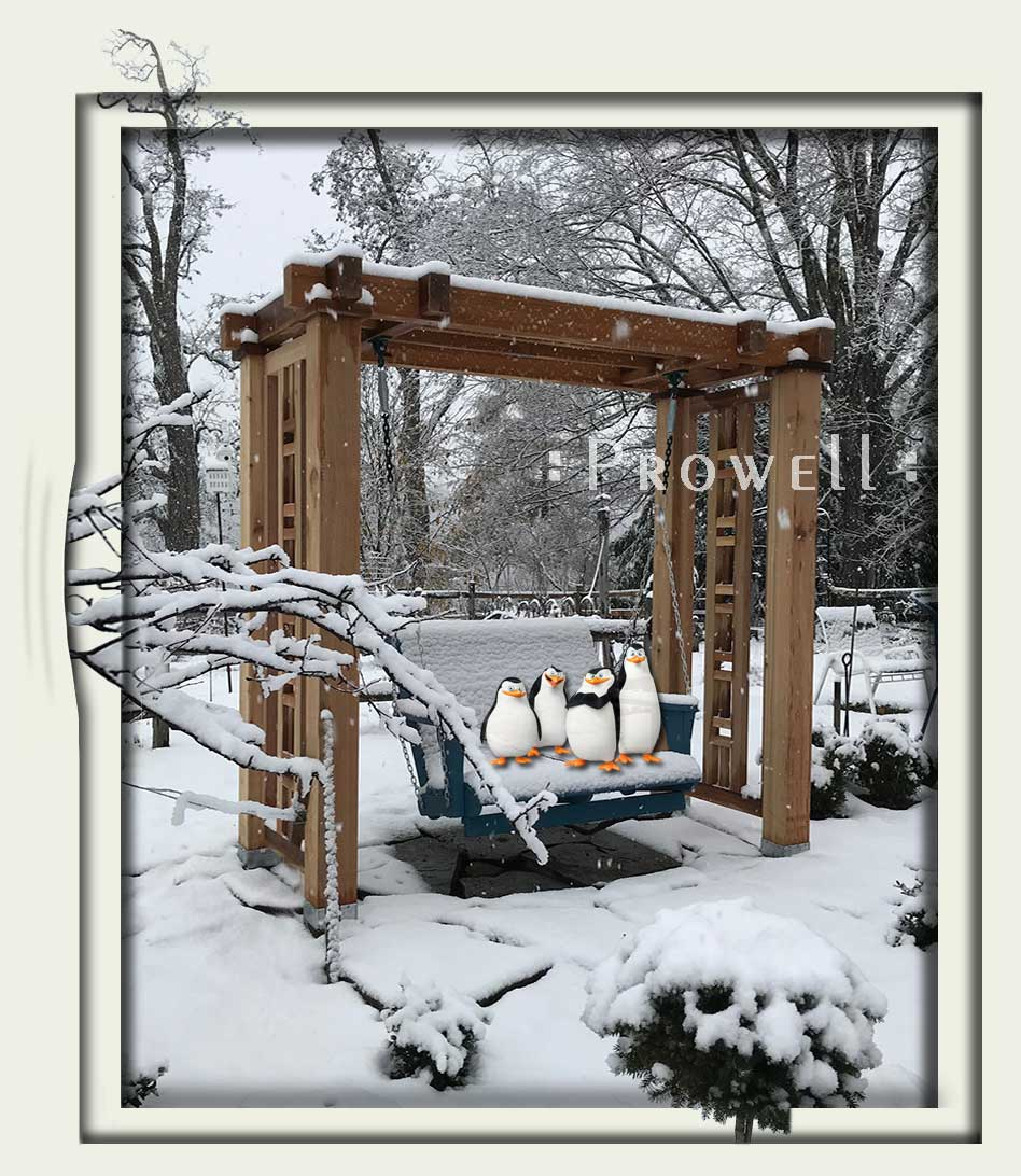 Custom Wood Outdoor Swing Stand