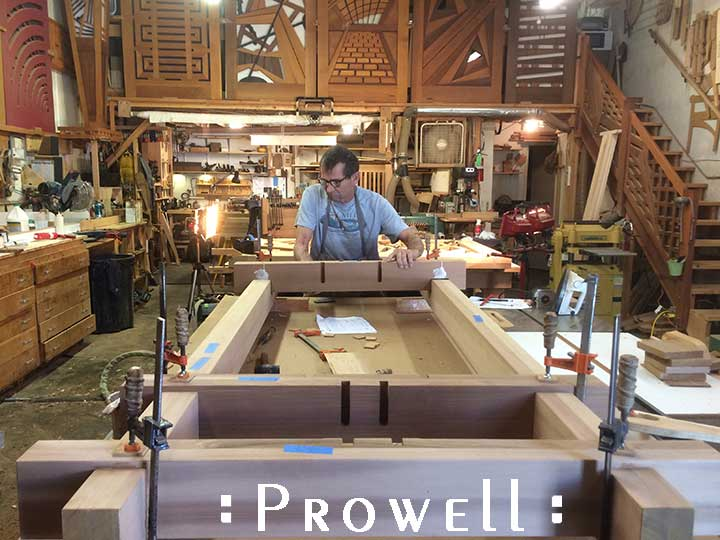 outdoor arbor wood joinery. prowell