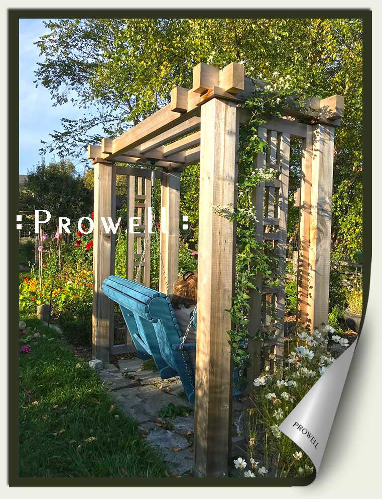 wood outdoor swing stand and arbor in new hampshire. prowell