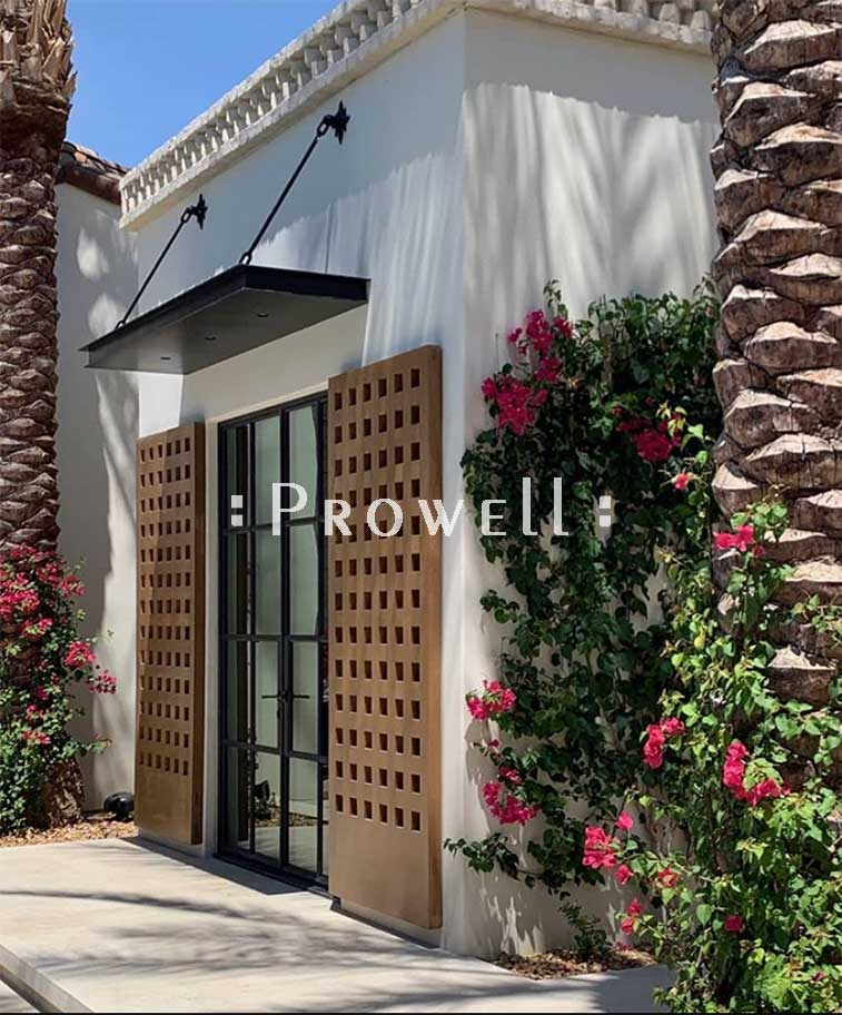 custom wood shutters #2d in Palm Springs, CA. Prowell woodworks