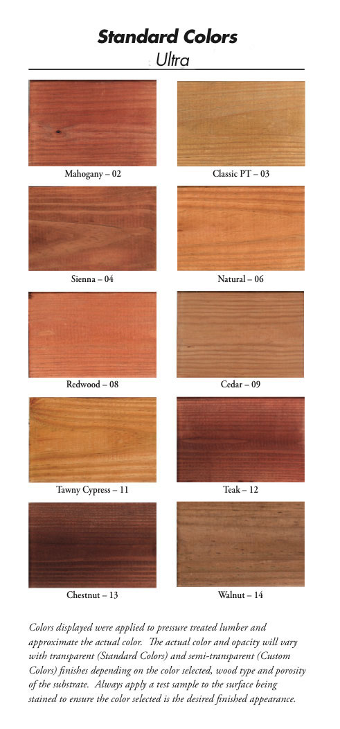 available colors WoodRX exterior finishes