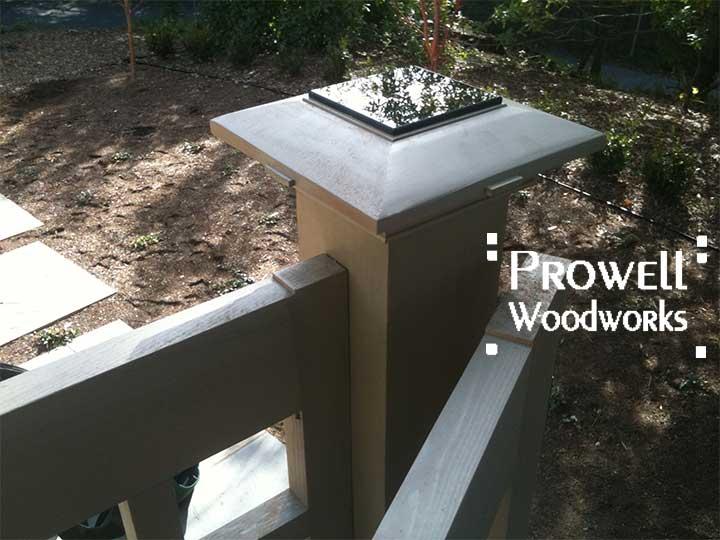 custom wood post caps