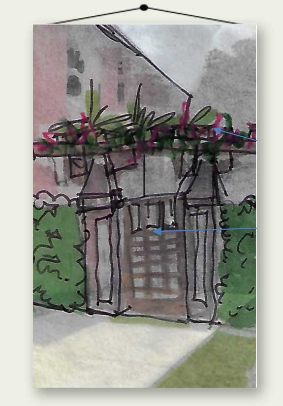 watercolor painting of arbor #8.