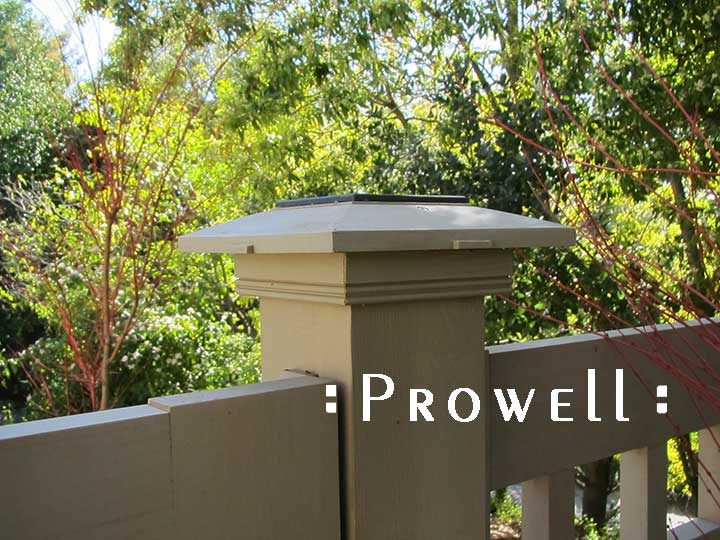 site photo showing the prowell wood post cap style #1