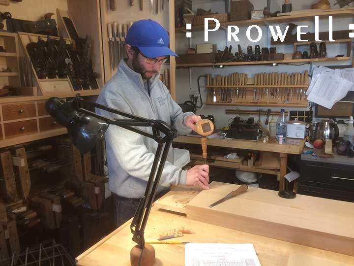 shop photo showing Ben using the Slip Joint for large wood gates
