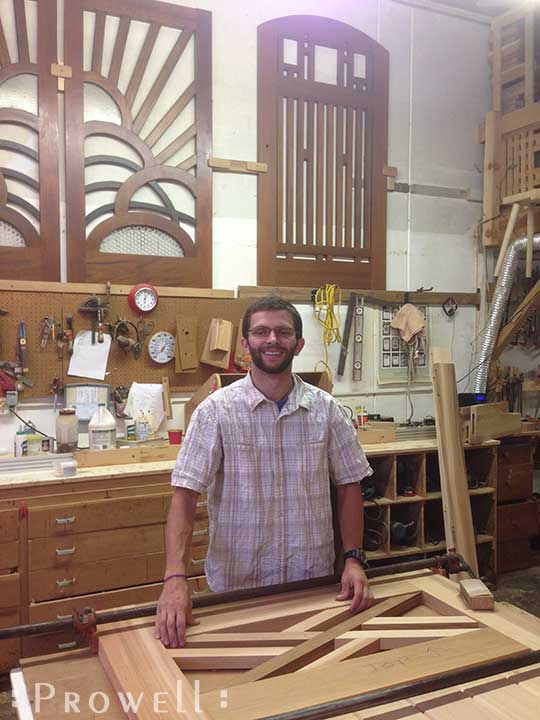 shop photo of Ben building a wooden gate #51
