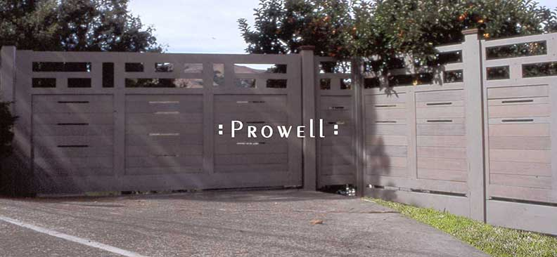 site photographs showing the modern driveway gates #11 in marin county, california