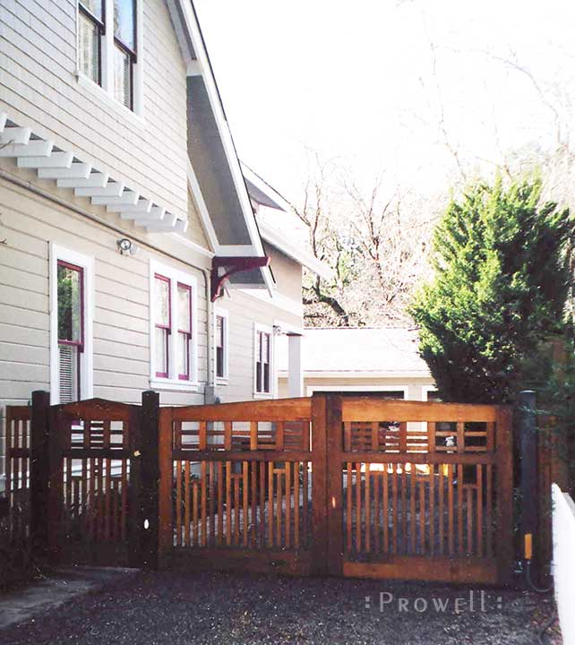 site photograph showing the Arts and Crafts driveway gates #12 in Los Gatos, California