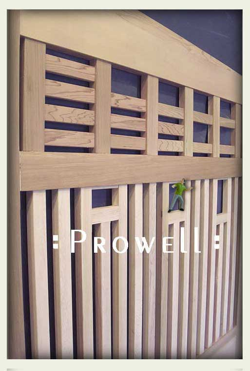 cropped photograph showing the joinery for driveway gate designs #12