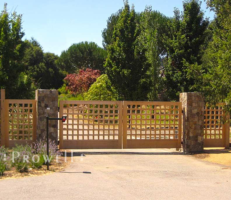 Custom Wood Driveway Gate #13 in Marin County, CA